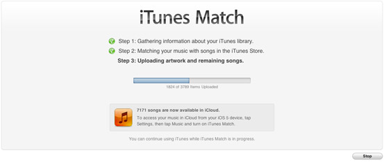 iTunes Match subida canciones
